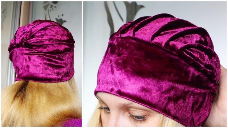 Шапка в стиле Тюрбан Twisted Turban Hat Sewing Pattern