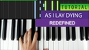 As I Lay Dying - Redefined - Piano Version / Tutorial MIDI Download