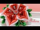 Flor Navidad en cintas Christmas flower on ribbons Flor de Natal em fitas