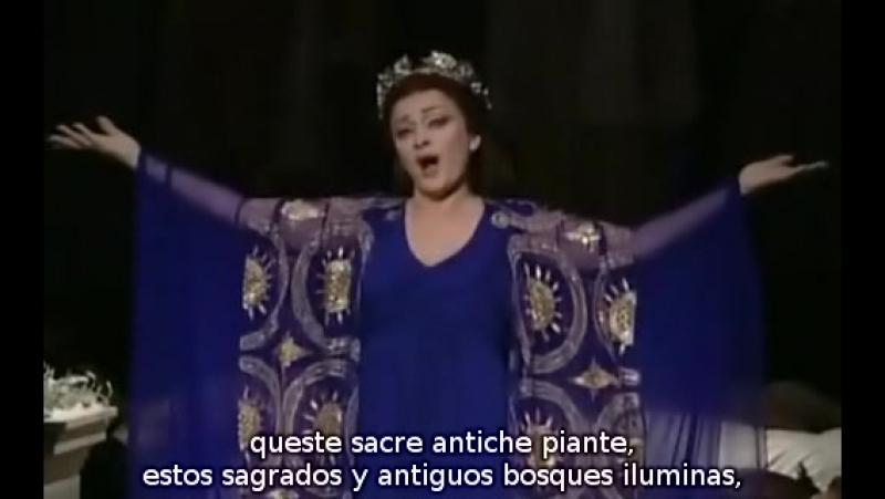 Daniela Dessi - Casta Diva de Norma de Bellini (subtítulos español e italiano)