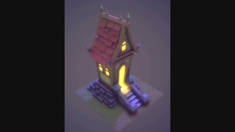 Autodesk Maya 2018 - Stylized House Speed Modeling