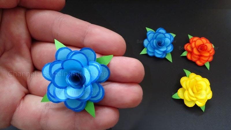 Rosen basteln mit Papier - Kleine Blumen als DIY Deko Geschenk 🌹 Origami Bastelideen