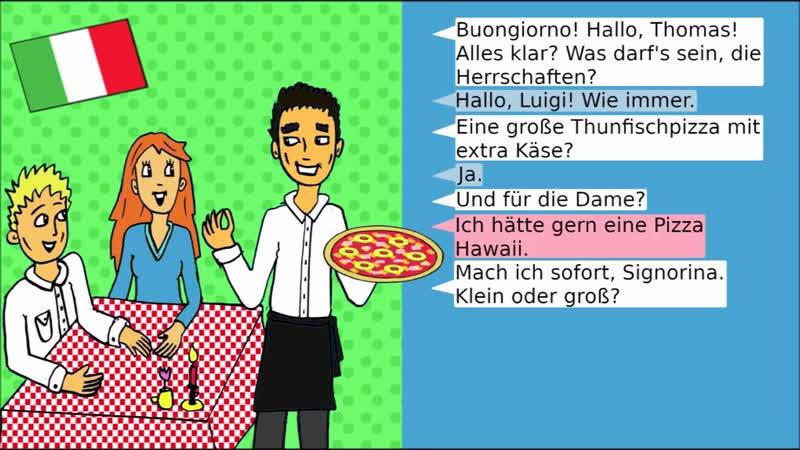 Deutsche Dialoge_ Essen bestellen beim Imbiss _ Restaurant - German dialogues_ ordering food