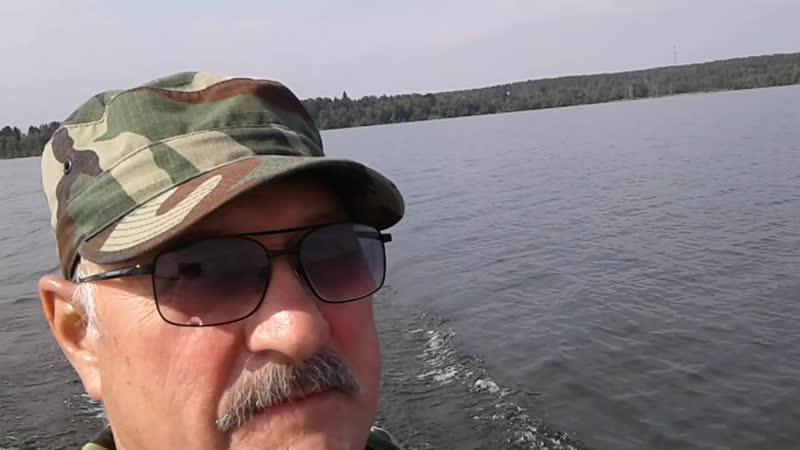 На глиссаде по Мичуринскому озеру в августе -18г