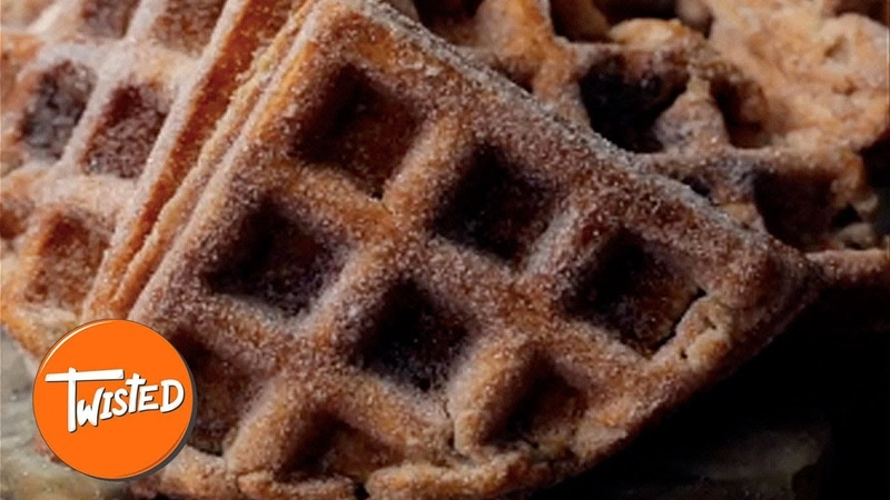 Homemade Churro Waffles | Weekend Brunch Ideas | Sweet Treats | Twisted