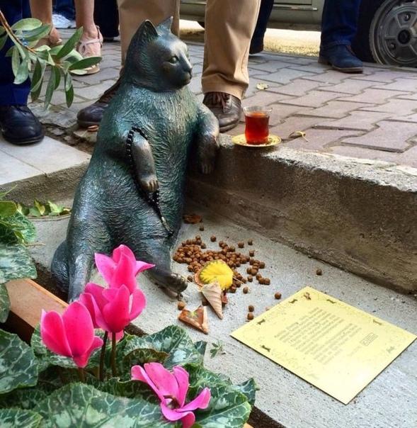 Томбили  памятник коту в Стамбуле.