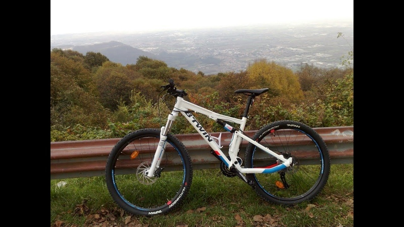 Descent by bike from Monte Maddalena of Brescia IT! B TWIN 720S