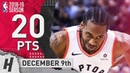 Kawhi Leonard Full Highlights Raptors vs Bucks 2018.12.09 - 20 Pts, 4 Ast, 8 Rebounds!