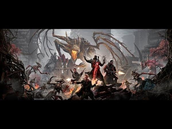 Разрушенный мир метро в спорах и вросший в трон человек в мрачном ролике Remnant From the Ashes