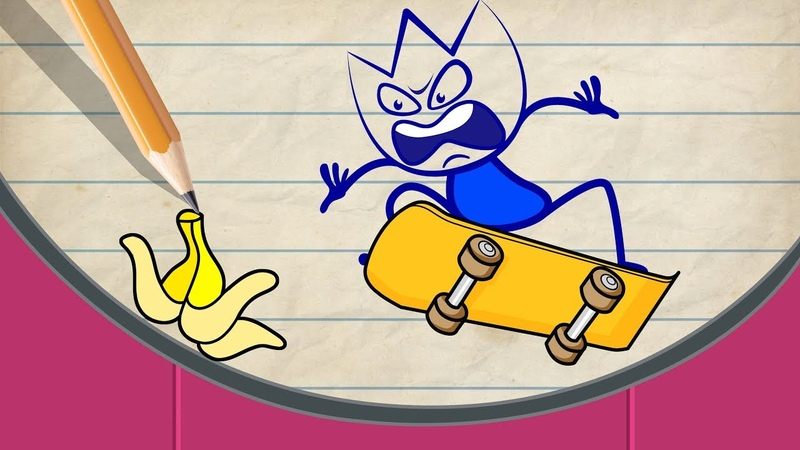 Max Shows Patin Skills | New Pencilmation Cartoons For Kids 2019 Part 13