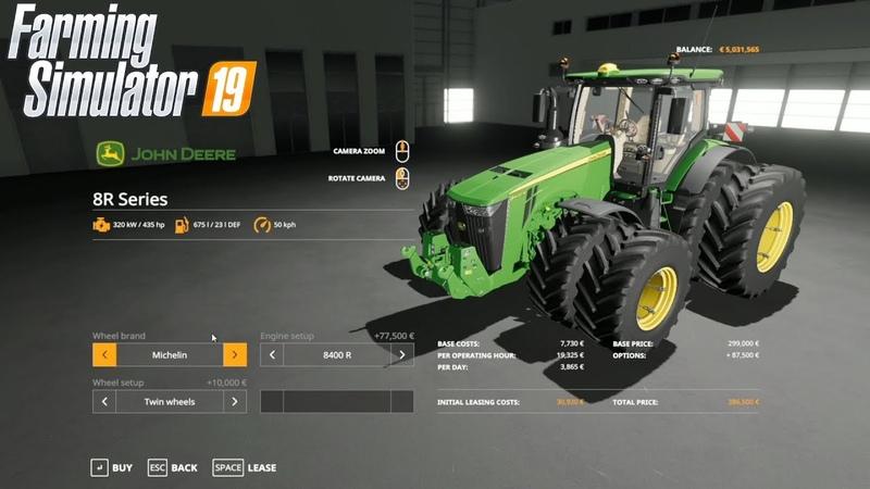 LS19 Gamescom - Der große 3D Fahrzeugshop mit John Deere 8400R