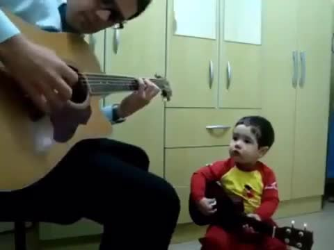 """Musicians on Instagram: """"🤩🔥 Don't let me down ! 😁❤️ . . Video by : Christian Diego and his 1 year old son! . .…"""""""