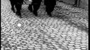 Bodies await burial as civilians walk past coffins in Neunburg, Germany. HD Stock Footage