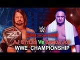 Big update about wwe Samoa joe vs Aj styleswrestle info #wrestleinfo