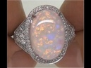 Highly Collectible Coober Pedy Mined Australian Opal Ring - Rare Gemstone