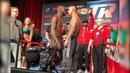 OH S***! TERENCE CRAWFORD SWINGS AT JOSE BENAVIDEZ JR AFTER PUSH DURING FACE OFF!