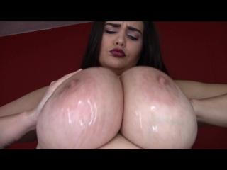 AthenaBlaze Perfect BIG Bouncing Oiled Tits