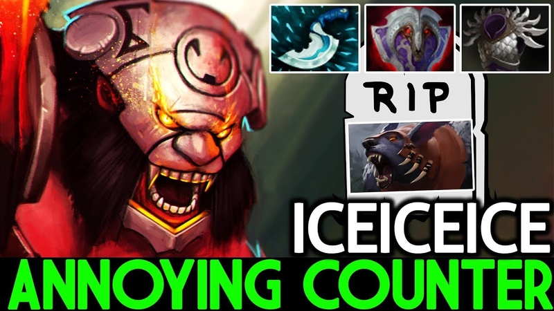 Iceiceice [Axe] Annoying Counter Ursa Crazy Gameplay 22 Kills 7.19 Dota 2