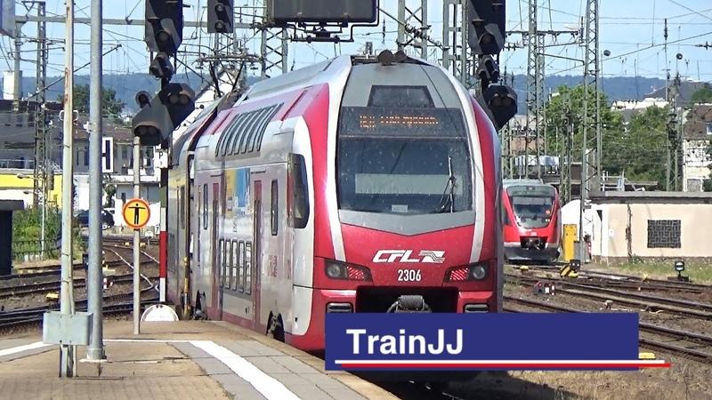 RE 1 CFL 2306 Luxembourg Bahnhof Koblenz Stadler KISS Dosto MRCE Dispolok SBB Cargo