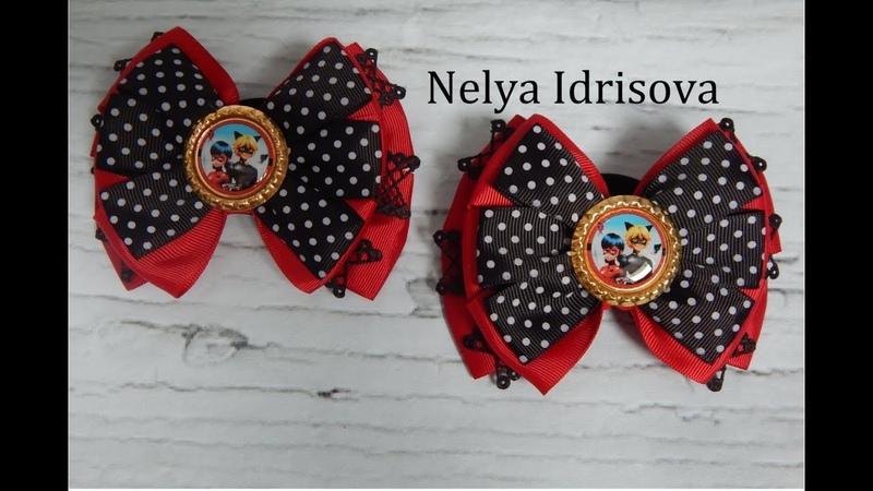 DIY The bow LADY BUG МК Легкий бантик с Леди Баг