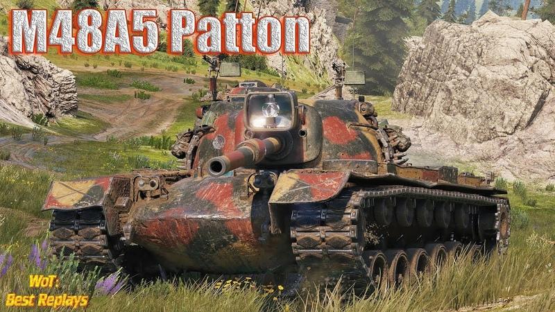 M48A5 Patton : Попал в Мясорубку - Тяжёлый Деф 1vs5 * Ласвилль