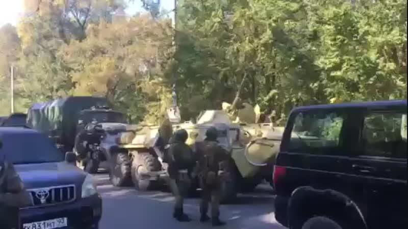 Крым. Оккупанты стягивают к взорванному колледжу в Керчи своих военных