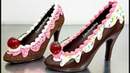 How To Make a CHOCOLATE HIGH HEEL SHOE Tempered Chocolate Royal Icing by Cakes StepbyStep