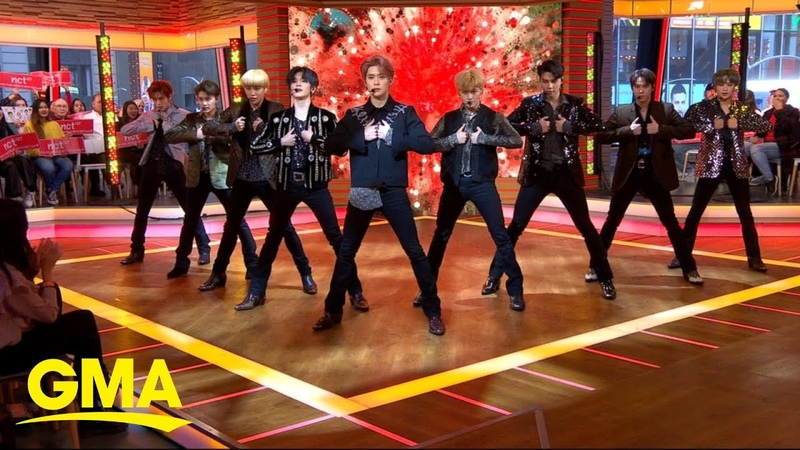 NCT 127 performs a mashup of 'Cherry Bomb' and 'Superhuman' l GMA