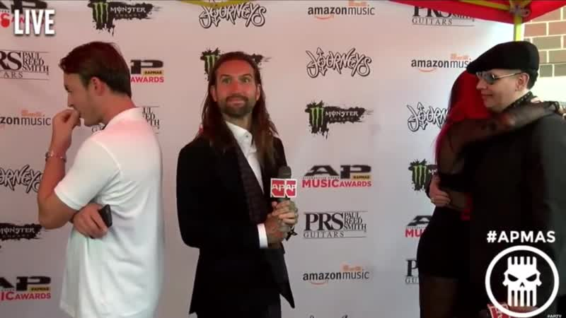 Marilyn Manson and Twiggy Ramirez on the red carpet of Alternative Press Music A