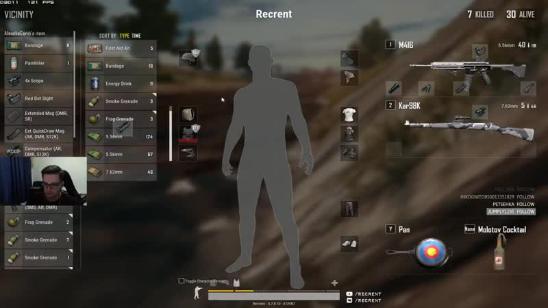 [Recrent] Тест новой синьки (solo fpp 16 kills)