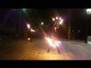 Видео 2 фаершоу команды Firefox на пешеходной зоне