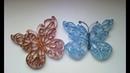 Mariposa hecha con tubos de papel higienico