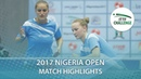 2017 Nigeria Open Highlights Bernadett B Szandra Pergel vs Yousra Helmy Dina Meshref Final
