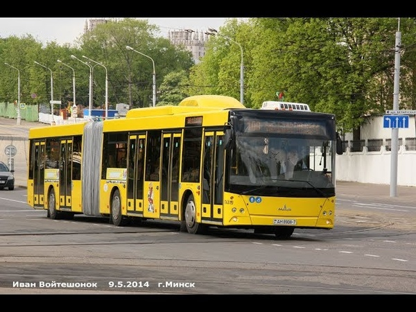 Автобус Минска МАЗ-215,гос.№ АН 8908-7, марш.901 (03.09.2018)