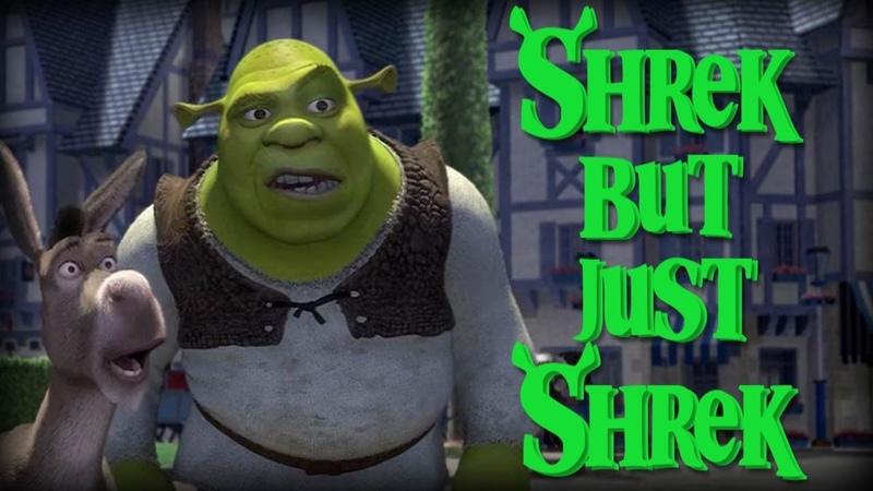 Every Shrek Movie but only the word Shrek