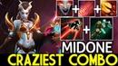 Midone Queen of Pain Craziest Combo Burst Damage 7.19 Dota 2