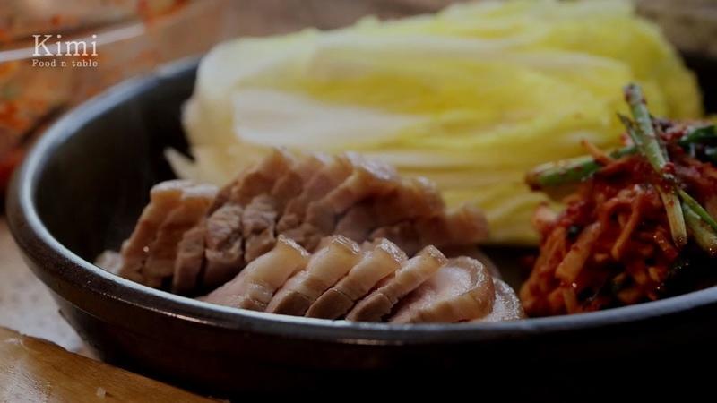 [ENG CC] 무김치 돼지고기 보쌈 Korean Radish Kimchi Bossam (Pork wraps)