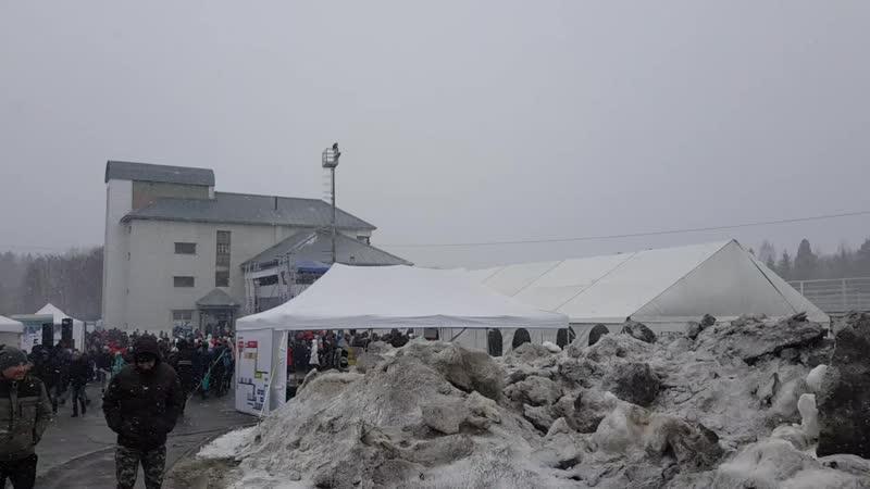 Монтаж шатра на биатлон фест 2019 г