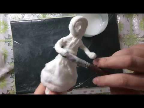 Ватная елочная игрушка девчушка МК ЧАСТЬ 1