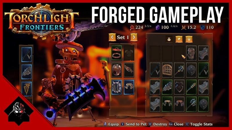 Torchlight Frontiers - Forged Class Gameplay Skills (Full Gamescom 2018 Demo)