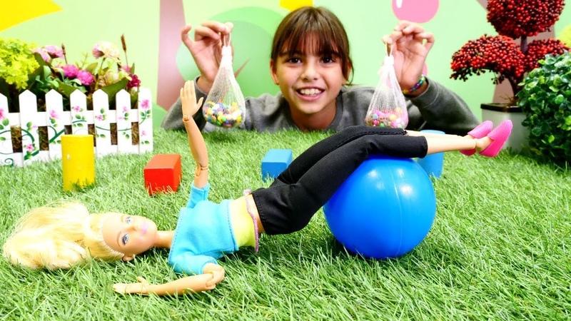 Barbie tatil kazanması için spor yarışmasına hazırlanıyor
