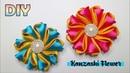 DIY    Kanzashi Flower Tutorial   Satin Ribbon   Bunga pita satin simple