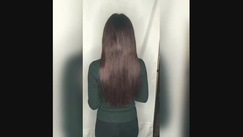 Наращивание волос от top secret hair