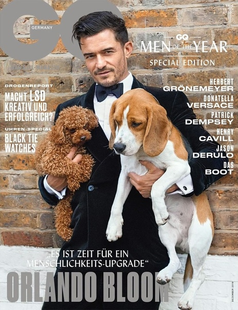 Orlando Bloom GQ Germany, Men of the Year issue