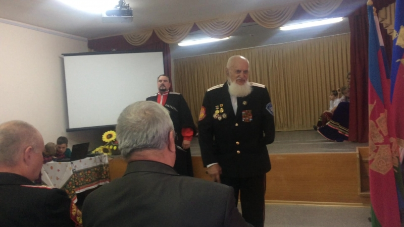Легенда Приморско-Ахтарского казачьего общества Виктор Акимович Мартыненко – участник Великой Отечественной войны.