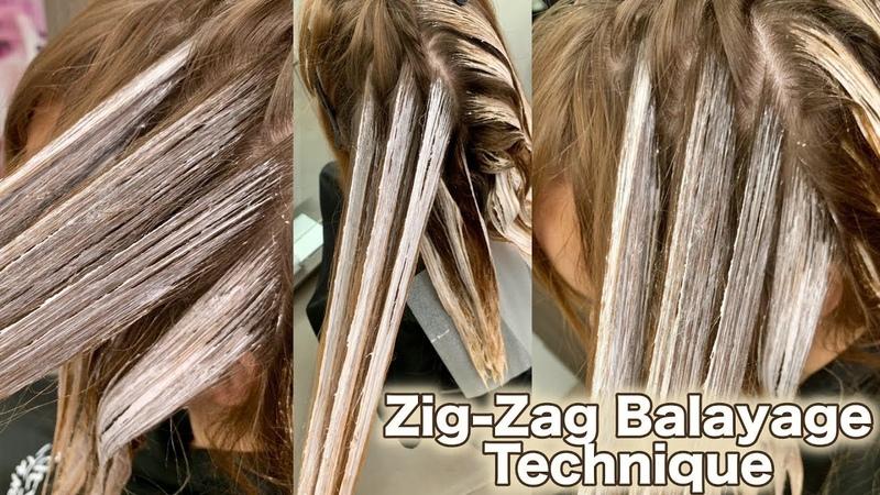 Zig Zag Balayage Technique