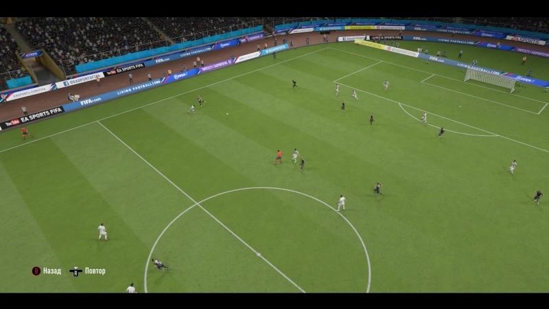 FIFA19 - гол в девятку Люка Де Йонга
