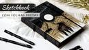 Fiz um caderno com folhas pretas 📖🖤 Caderno feito à mão Marina Araújo
