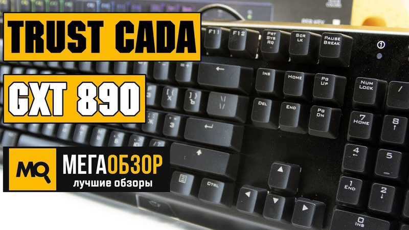 Trust CADA GXT 890 обзор клавиатуры