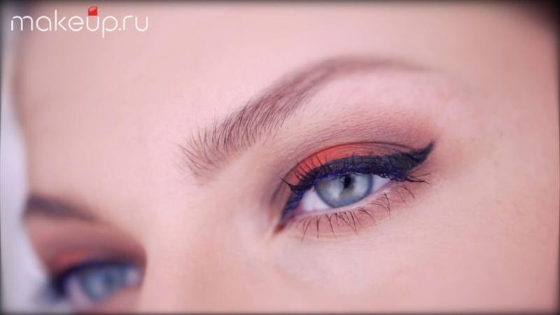 Макияж со стрелками для голубых глаз видеоурок